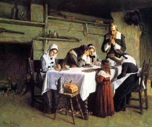 """""""Pilgrims' Grace"""" by Henry Mosler (1841-1920)"""
