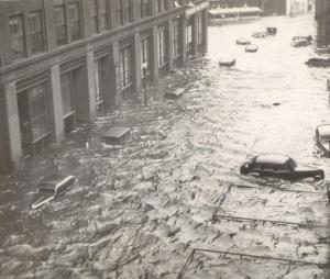 AP Photo: Providence Rhode Island in 1938. Are storms really worse than they used to be? Or do we suffer from climate amnesia?