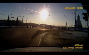 A meteor explodes over Chelyabinsk, Russia on February 15, 2013. Photo: Russiatrek.org