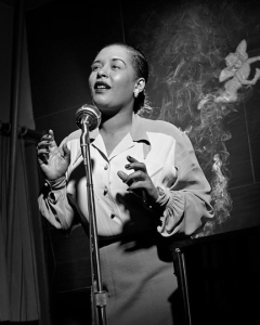 Billie Holiday, 1949 by Herman Leonard.