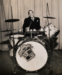 Chick Webb at his drums, ca. 1937.